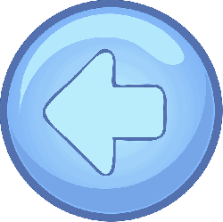 computer, back, left, blue, arrow, button, round