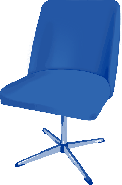 computer, blue, office, desk, chair, cartoon, furniture