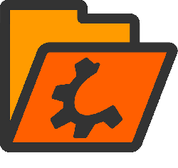 computer, flat, icon, folder, open, orange, directory