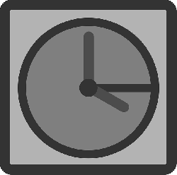 computer, flat, icon, time, file, clock, theme