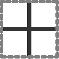 computer, flat, inside, border, all, between, icon