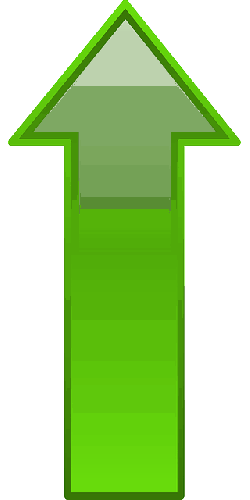 computer, green, icon, arrow, going, cartoon, shapes