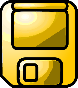 computer, icon, disk, gold, theme