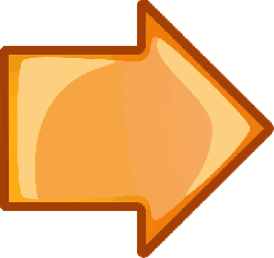 computer, icon, left, right, arrow, cartoon, orange