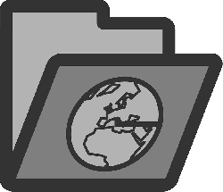 computer, internet, flat, icon, folder, globe, earth