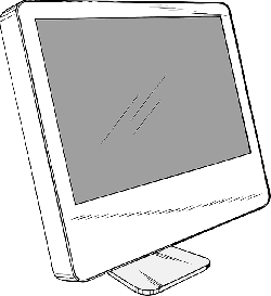 computer, monitor, lcd, screen, flat, panel, display