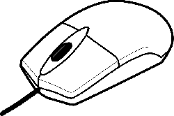 computer, mouse, keyboard, outline, drawing, cartoon