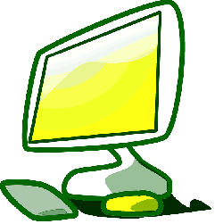 computer, mouse, monitor, green, icon, keyboard, blue