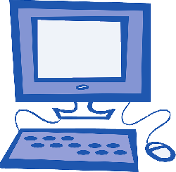 computer, mouse, monitor, screen, keyboard, simple