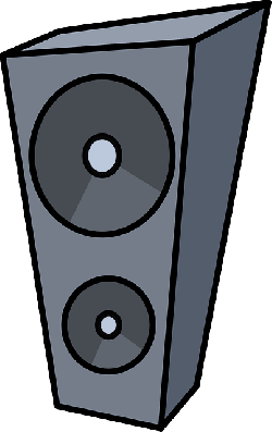 computer, music, box, flat, icon, speaker, cartoon, big