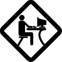 computer, office, desk, sign, typing, developer