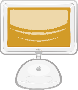 computer, screen, flat, apple, panel, electronics