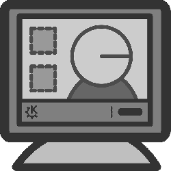 computer, screen, flat, person, theme, edit, icon