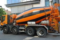 concrete mixer, concrete mixing vehicle, vehicle