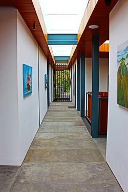 corridor, walkway, wall art, gate, path, architecture