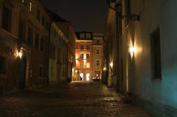 cracow, krakow, old, town, street, architecture, lights