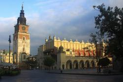 cracow, krakow, poland, market, square, town, cloth
