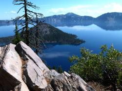 crater lake, mt mazama, water, volcano, scenery