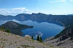crater lake, oregon, usa, landscape, scenery, nature