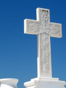cross, blue, stone, holiday, background, christ, light