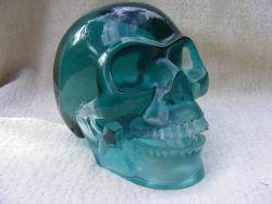 crystal skull, skull, crystal, blue, nature, shiny