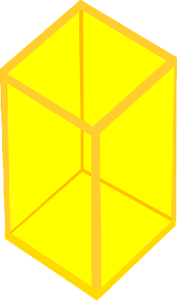 cube, 3d, square, yellow