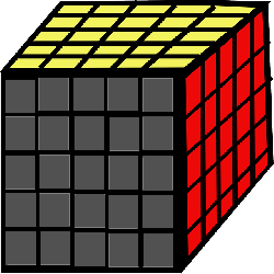 cube, game, rubik, rubiks cube, yellow, blue, red