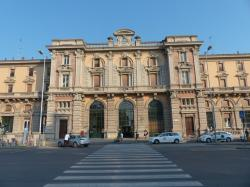 cuneo, railway station, home, zebra crossing, road