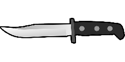 cutlery, flat, knife, sharp, arm, weapon