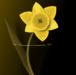 daffodil, flower, spring, vase, yellow, artwork