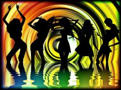 dance, silhouette, music, woman, water, fun, party
