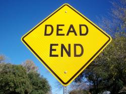 dead end, street sign, sign, road, traffic