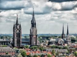 delft, the netherlands, city, skyline, buildings