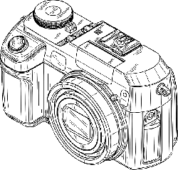 digital, outline, cartoon, camera, electronics, free