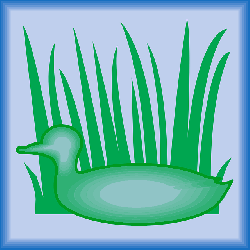 digital, silhouette, bird, duck, grass, wings, art