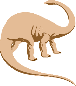 dino, color, peach, dinosaur, colored, long, neck