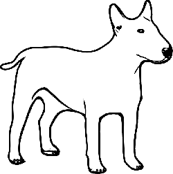 dog, duck, dogs, pet, outlines, animal, mammal, color