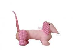 dog, soft, toy, soft toy, plush dog, cuddly, cute, pink
