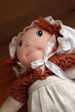 doll, toy, rag, cloth, kids, ginger, hair