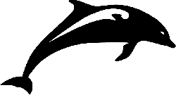 dolphin, fish, jumping, animal, mammal, silhouette