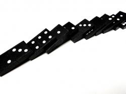 domino, dominoes, game, playing, row, falling, numbers
