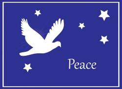 dove, bird, christmas, card, christmas card, peace