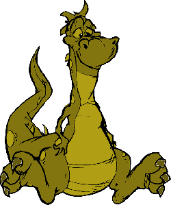 dragon, green, fire, fly, scales, lazy, sit, sitting