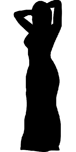 dress, silhouette, woman, female