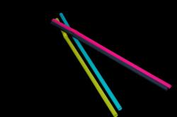 drinking straw, straw, colorful, yellow, blue, grey