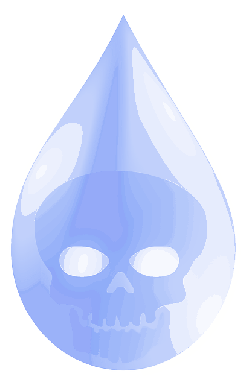 drop, ecology, pollution, toxic, water, poison, skull