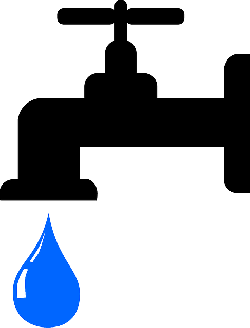 drop, faucet, tap, water, waterdrop, black, blue