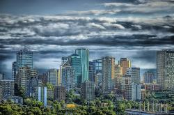 edmonton, canada, skyline, city, urban, skyscrapers