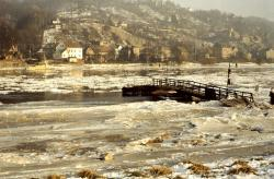 elbe, drift ice, ice, winter, river, frozen, ice floes