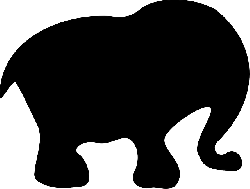elephant, mammal, animal, wildlife, silhouette